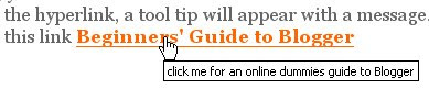 tool tip resulting from title attribute
