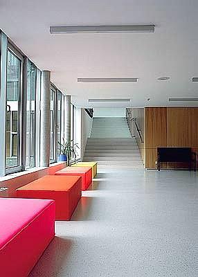 lobby of modern building