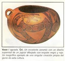 VASO CULTURA AGUADA ARGENTINA - JAGUAR