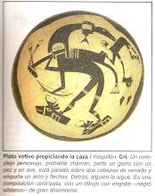 PLATO MOGOLLÓN - PROBABLE CHAMÁN PROPICIANDO LA CAZA
