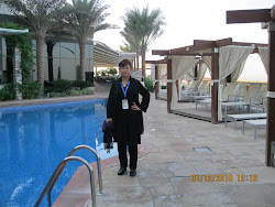 At a poolside in a hotel at Abu dabi