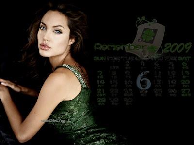 Angelina Jolie wallpapers 6 calendar 2009