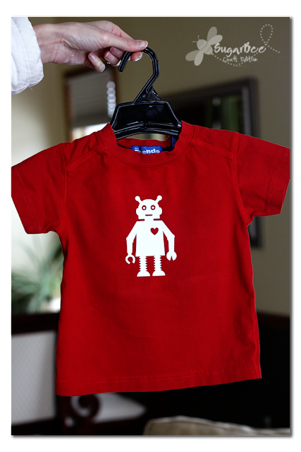 Boy's Valentine T-shirt made with Silhouette cutting machine by Mandy Beyeler