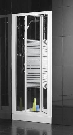 Puerta Baño Hacia Afuera:mampara de ducha con puertas plegables no ocupan nada en el baño