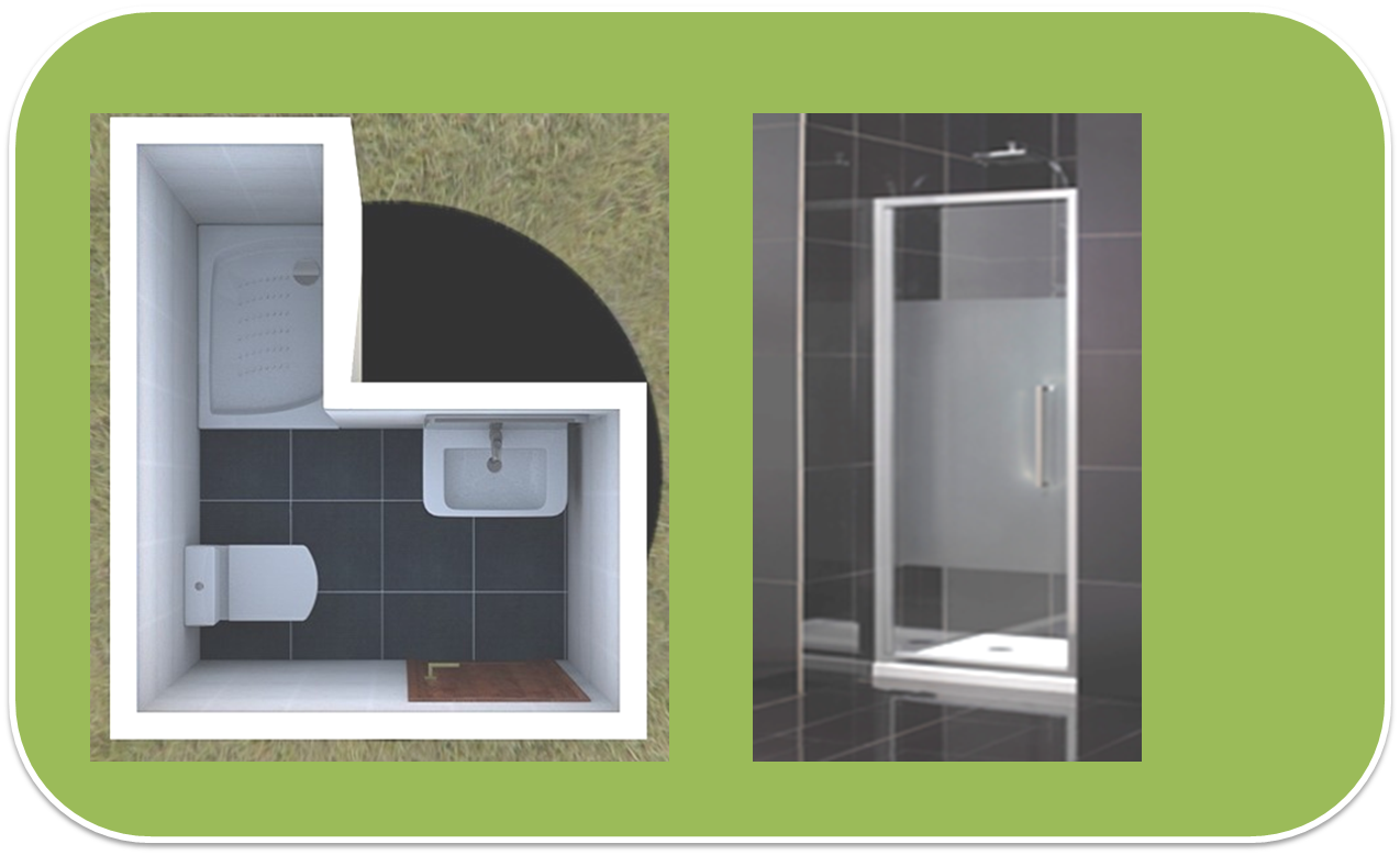 Baño Pequeno Mampara:Baño con Ducha: 6 tipos de mamparas de ducha para 6 baños distintos