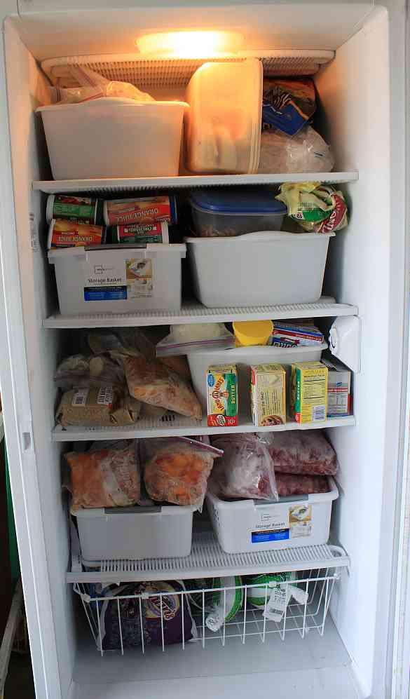 organizing the upright freezer - Upright Freezers