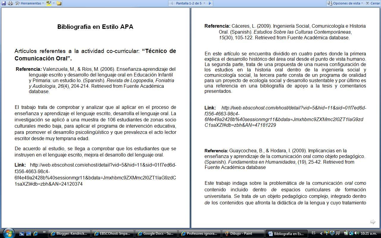 +De+Bibliografia+APA De Ensayo Con Formato APA. Normas Apa Para ...