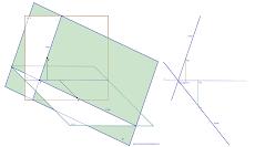 Traços horizontal e frontal de um Plano