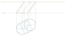 Cilindro oblíquo de bases horizontais