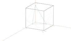 Axonometria Ortogonal de um cubo
