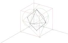 Axonometria Ortogonal de um Octaedro