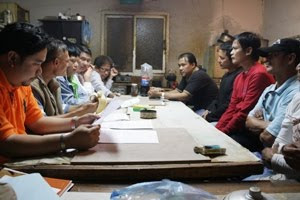 KGS/Migrante officials discuss case with Al Arab Contracting (ACC) OFWs' on February 5