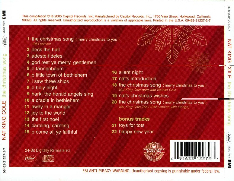 Music & So Much More: Nat King Cole - The Christmas Song