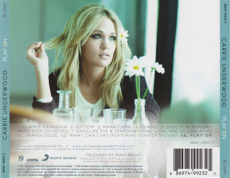 Carrie Underwood - Play On 2009 New. ID: C42. CD Mitsubishi +