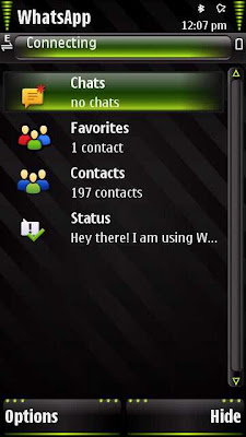 WhatsApp for Nokia 5800 XpressMusic