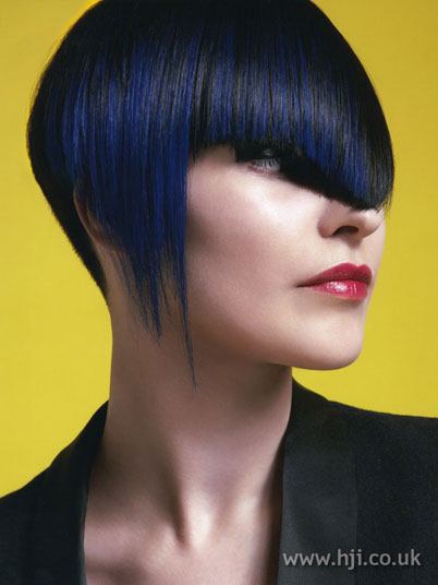 black and blue hair highlights