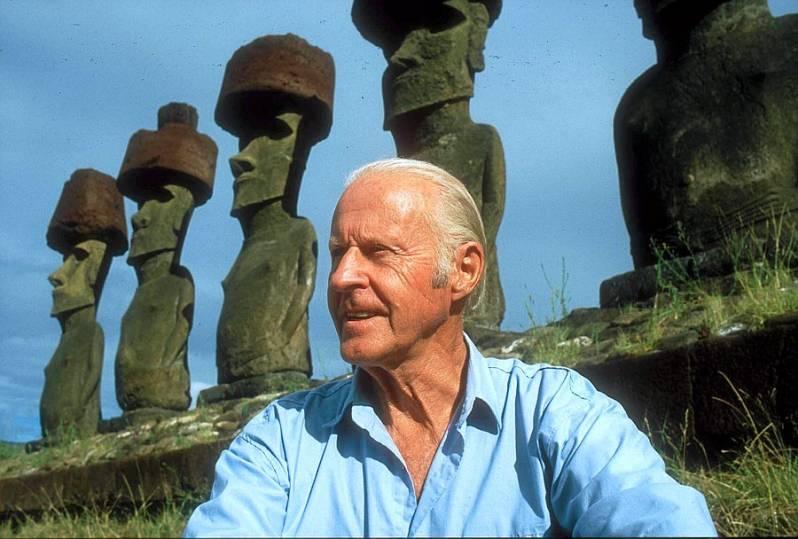 Thor Heyerdahl FOTO Isola di Pasqua