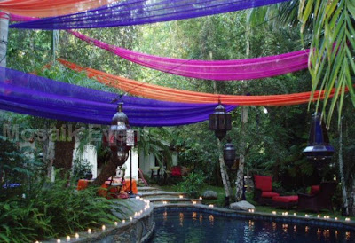 wedding pool decoration in bali