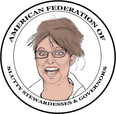 Sarah Palin American Federation of Slutty Stewardesses and Governors Official Cartoon Logo
