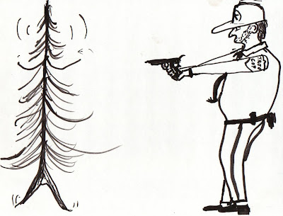 tree cop, a cartoon
