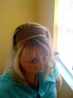 ribbon headband @ Brittany's Cleverly Titled Blog