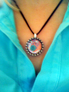 B necklace @ Brittany's Cleverly Titled Blog