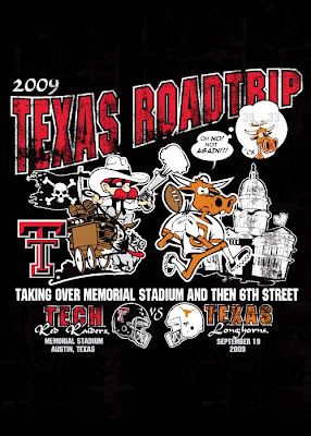 TTU v. Texas print @ Brittany's Cleverly Titled Blog