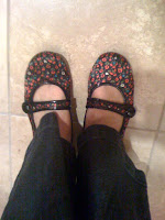 flowered flats @ Brittany's Cleverly Titled Blog
