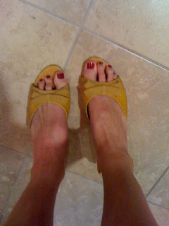 yellow Anne Klein shoes @ Brittany's Cleverly Titled Blog
