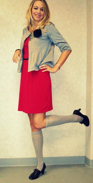 knee high socks and dress