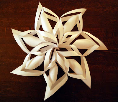 Christmas ornament paper snowflake tutorial crafts for 3d paper star decoration