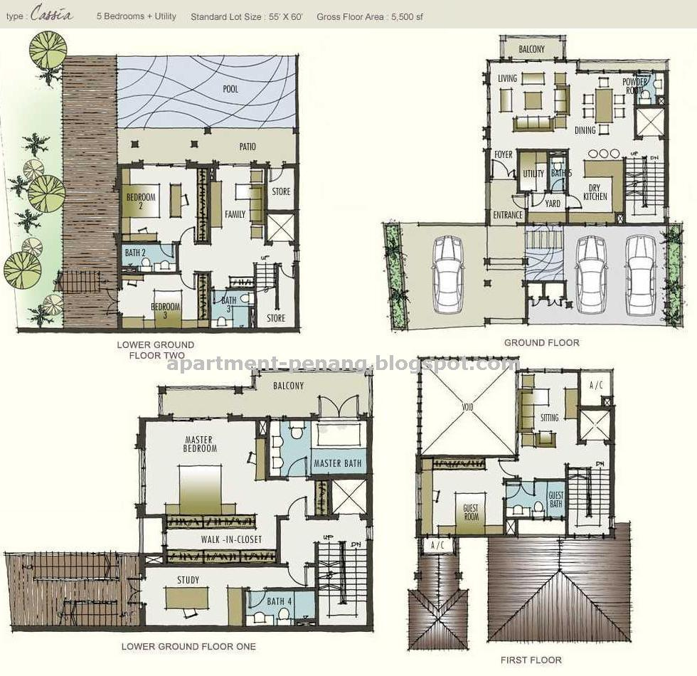 Garden By The Bay Floor Plan moonlight bay | apartment-penang