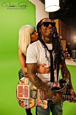 Fotos Exclusivas: Lil Wayne & Nicki Minaj nos bastidores do vídeo clipe Knockout