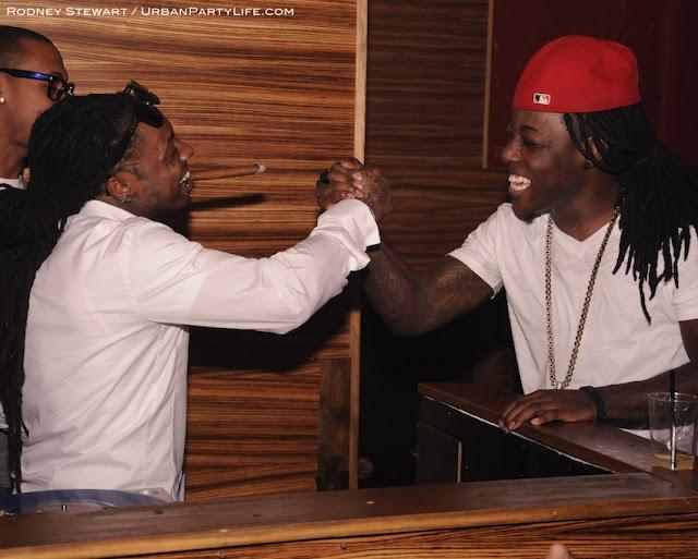 Foto do Lil Wayne & Ace Hood no aniversário de 18 anos do Lil Twist