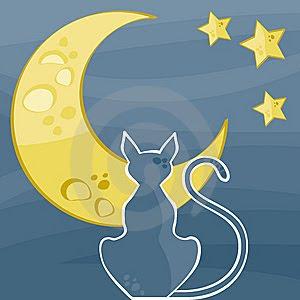 silhueta do gato thumb6096302 786913 Gatos para vários fins (inclusive patchcolagem) para crianças