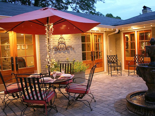 And Yes, There Is Always The Tried And True... Tables With Umbrellas For  More Casual Gatherings;