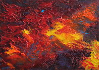 abstract in acrylic by atul pande