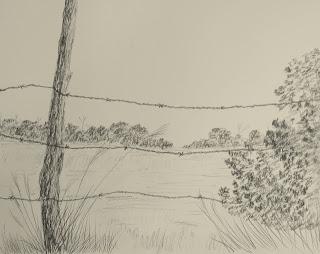 original charcoal sketch by american artist atul pande
