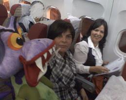 CFC foi de avião com as autoras para São Paulo, em maio de 2009.