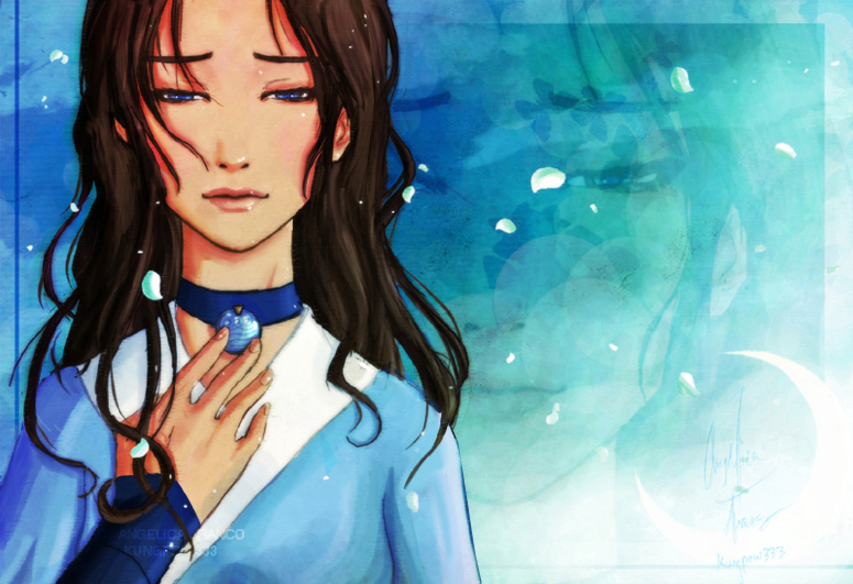 cartoon girl cute. So as you can see, Katara's necklace does look suspiciously like the pendant