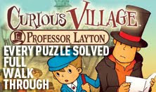 professor layton and the curious village every puzzle solved all solutions walkthrough