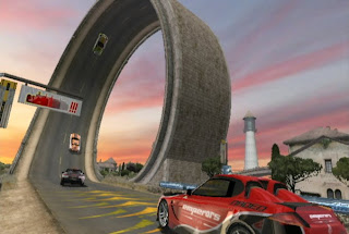 Trackmania video game on Wii