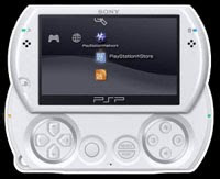 psp go console front view