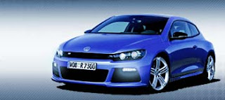 vw scirocco car in electric blue