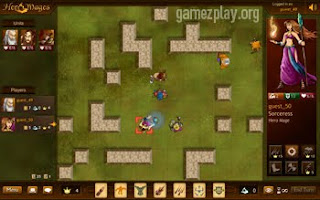 look down screenshot of players in maze area