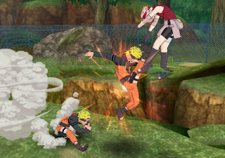 Naruto vs. Sakura on Naruto Shippuden: Clash of Ninja Revolution 3