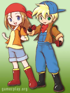 Chelsea and mark from Harvest moon farm game