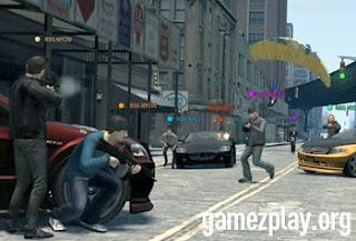 street battle scene in new york city shoot out