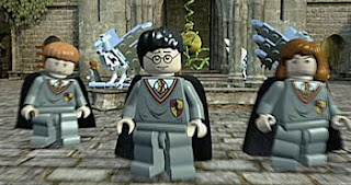 lego harry potter screen with harry and friends