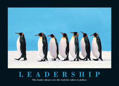 Leaders always set the trail for others to follow.